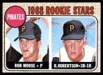 1968 Topps #36   -  Bob Robertson / Bob Moose Pirates Rookies Front Thumbnail