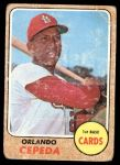 1968 Topps #200  Orlando Cepeda  Front Thumbnail