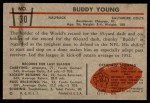 1953 Bowman #30  Buddy Young  Back Thumbnail