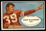 1953 Bowman #32  Hugh McElhenny  Front Thumbnail