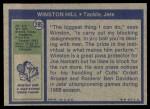 1972 Topps #295  Winston Hill  Back Thumbnail