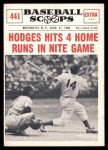 1961 Nu-Card Scoops #441   -   Gil Hodges  Hits 4 Home Runs in Nite Game Front Thumbnail
