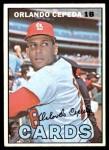 1967 Topps #20  Orlando Cepeda  Front Thumbnail