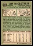 1967 Topps #19  Jim McGlothlin  Back Thumbnail