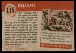 1954 Topps World on Wheels #115   Reliant Back Thumbnail
