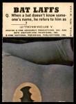 1966 Topps Batman Bat Laffs #41   The Joker Back Thumbnail