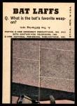 1966 Topps Batman Bat Laffs #42   The Penguin Back Thumbnail