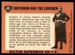 1966 Topps Superman #40   Superman & the Cavemen Back Thumbnail