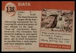 1954 Topps World on Wheels #138   Siata Back Thumbnail