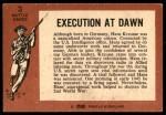 1966 A and BC England Battle #3   Execution At Dawn Back Thumbnail