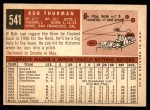 1959 Topps #541  Bob Thurman  Back Thumbnail