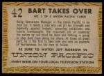 1958 Topps TV Westerns #42   Bart Takes Over  Back Thumbnail