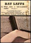 1966 Topps Batman Bat Laffs #44   Penguin / Joker / Riddler Back Thumbnail