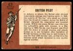 1966 A and BC England Battle #63   British Pilot Back Thumbnail