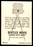 1964 Topps Beatles Movie #7   Dont Get Excited Back Thumbnail