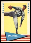 1961 Fleer #45  Carl Hubbell  Front Thumbnail
