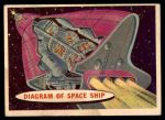 1957 Topps Space #19   Diagram of Space Ship Front Thumbnail