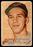 1957 Topps #328  Brooks Robinson  Front Thumbnail