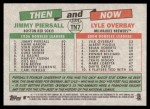 2005 Topps Heritage Then & Now #7 TN Jim Piersall / Lyle Overbay  Back Thumbnail