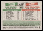 2005 Topps Heritage Then & Now #9 TN Bill Bruton / Carl Crawford  Back Thumbnail