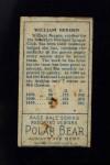 1911 T205  William Bergen  Back Thumbnail