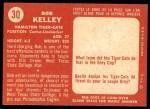 1958 Topps CFL #30  Bob Kelley  Back Thumbnail