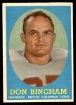 1958 Topps CFL #13  Don Bingham  Front Thumbnail
