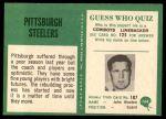 1966 Philadelphia #144   Steelers Team Back Thumbnail
