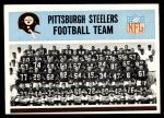 1966 Philadelphia #144   Steelers Team Front Thumbnail