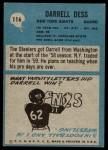 1964 Philadelphia #116  Darrell Dess  Back Thumbnail