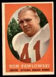 1958 Topps CFL #6  Ron Pawlowski  Front Thumbnail