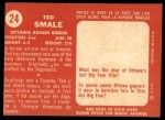 1958 Topps CFL #24  Ted Smale  Back Thumbnail