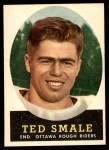 1958 Topps CFL #24  Ted Smale  Front Thumbnail