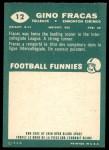 1960 Topps CFL #12  Gino Fracas  Back Thumbnail