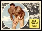 1960 Topps CFL #12  Gino Fracas  Front Thumbnail