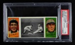 1912 T202 Hassan   -  Dots Miller / Fred Clarke Speaker Almost Caught  Front Thumbnail