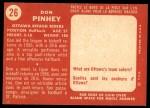 1958 Topps CFL #26  Don Pinhey  Back Thumbnail