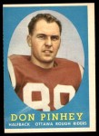 1958 Topps CFL #26  Don Pinhey  Front Thumbnail