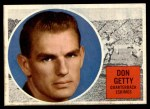 1960 Topps CFL #13  Don Getty  Front Thumbnail