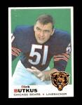 1969 Topps #139  Dick Butkus  Front Thumbnail