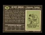 1969 Topps #166  Lee Roy Jordan  Back Thumbnail