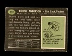 1969 Topps #237  Donny Anderson  Back Thumbnail