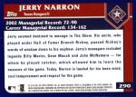 2003 Topps #290  Jerry Narron  Back Thumbnail