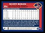 2003 Topps #489  Scott Rolen  Back Thumbnail