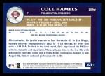 2003 Topps #671  Cole Hamels  Back Thumbnail