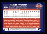2003 Topps #16  Kerry Wood  Back Thumbnail