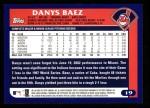 2003 Topps #19  Danys Baez  Back Thumbnail