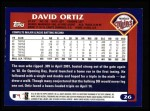 2003 Topps #26  David Ortiz  Back Thumbnail