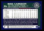 2003 Topps #129  Mike Cameron  Back Thumbnail