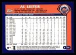 2003 Topps #151  Al Leiter  Back Thumbnail